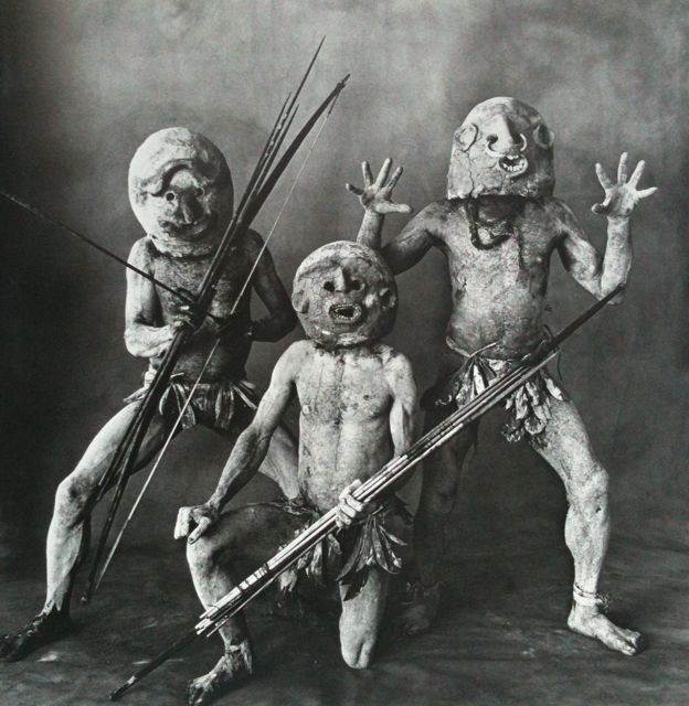 Irving Penn. Three Asaro Mud Men, 1970. © The Estate of Irving Penn