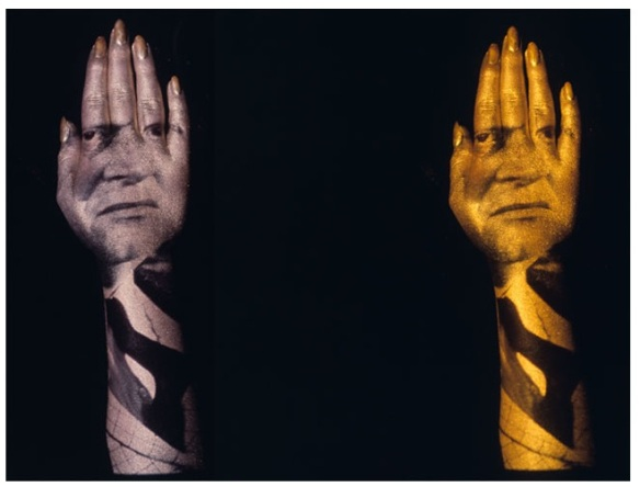 Two views of Robert Brownjohn's preparatory studies for the Goldfinger title sequence. 1964. Silver-gelatin print. Photograph by Herbert Spencer. The Museum of Modern Art, New York. Gift of Don Goeman. © 2012 Eliza Brownjohn