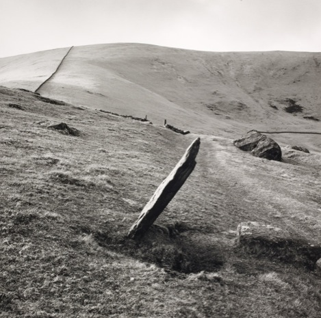 Fay Godwin, Markerstone on the old road from London to Harlech, 1976