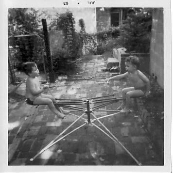 Two Small Boys on Their Whirlybird, Washington DC, 1963