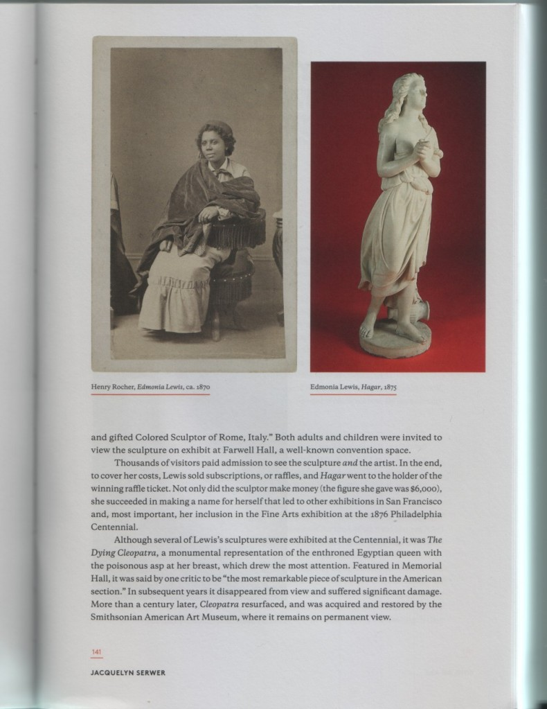 Edmonia Lewis by Henry Rocher, c.1870 (left)