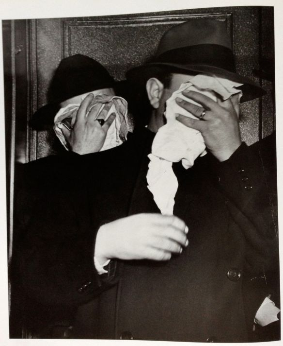Weegee, Arrested for Bribing a Basketball Player, 1945.   This is one of the accidental masks reprinted in WM Hunt's brilliant Unseen Eye, Thames & Hudson 2011