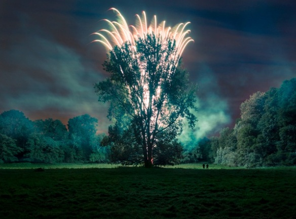 Harry Cory Wright. Harry, Bryan and Central Poplars. Smoke and 130 ft Mine, 2012
