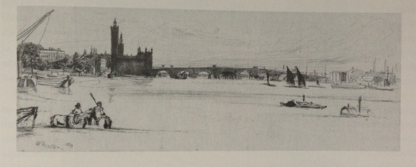 James McNeill Whistler. Old Westminster Bridge, 1859. Reproduced from Cooke, Gordon, Whistler on the Thames, Fine Art Society, 2013