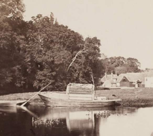 Victor albert Prout. Pangbourne, Second View (detail). Before 1862. Courtesy Hulton Archive.