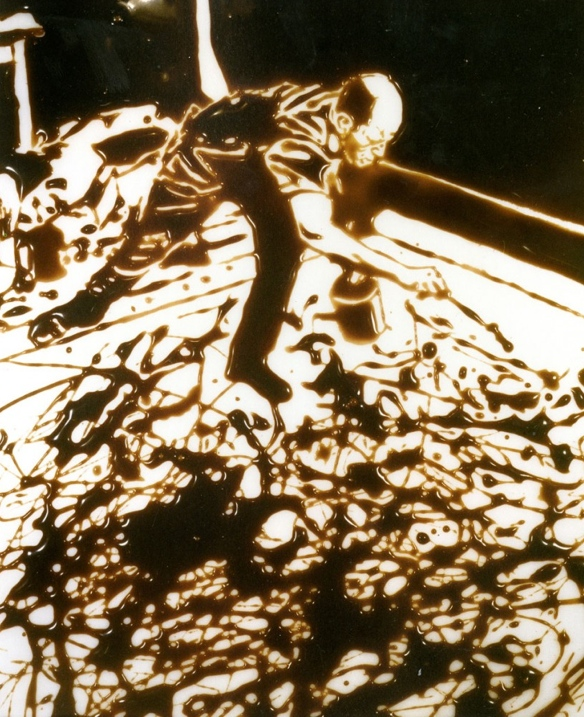 Vik Muniz, Action Photo I (After Hans Namuth) - Pictures of Chocolate, 1997