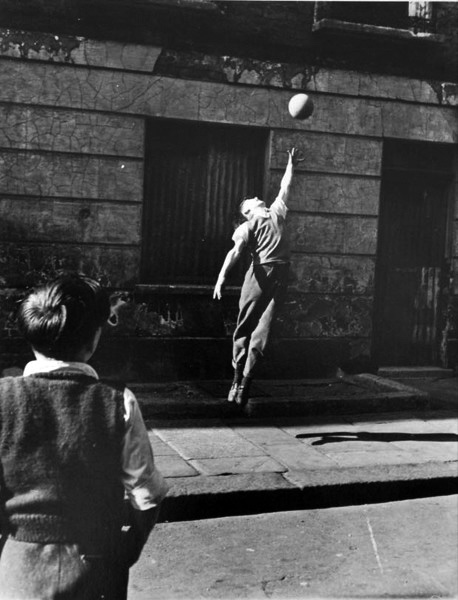 Footballer Jumping, Brindley Rd, Harrow Road 1957