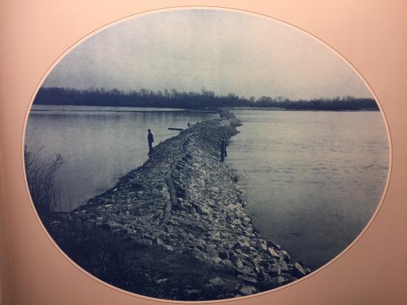 Henry Peter Bosse : Closing Dam in Otter Chute, 1889