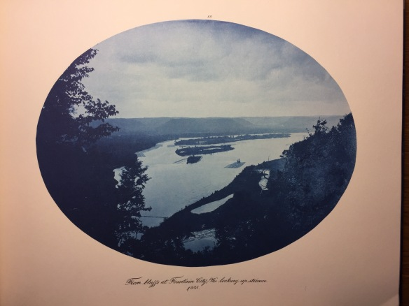 Henry Peter Bosse : From Bluffs at Fountain City, Wisconsin, Looking Upstream, 1885