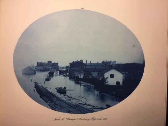 Henry Peter Bosse : Front Street, Davenport, Iowa, High Water, 1888