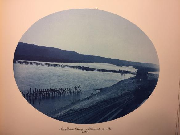 Henry Peter Bosse : Old Ponton Bridge at Prairie du Chien, Wisonsin, 1885
