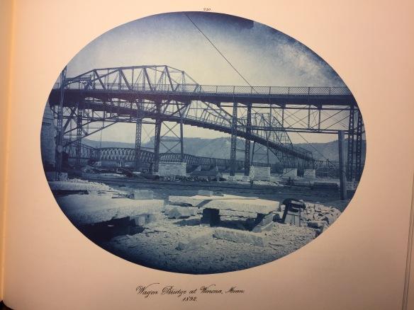 Henry Peter Bosse : Wagon Bridge at Winona, Wisconsin, 1892