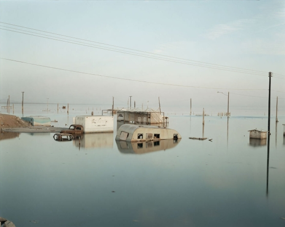 Richard Misrach, Submerged Trailer, Salton Sea 1983
