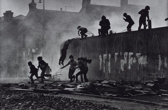 Gangs of Boys Escaping C.S. Gas Fired by British Soldiers, Londonderry, Northern Ireland  1971, printed 2013 by Don McCullin born 1935
