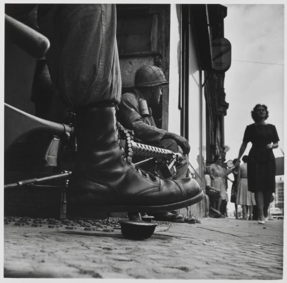 Near Checkpoint Charlie, Berlin 1961 by Don McCullin born 1935