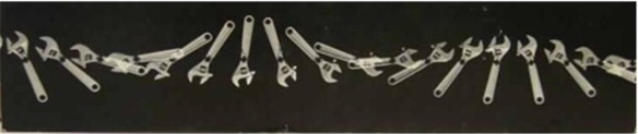 Berenice Abbott Loaded Swinging Wrench 1958