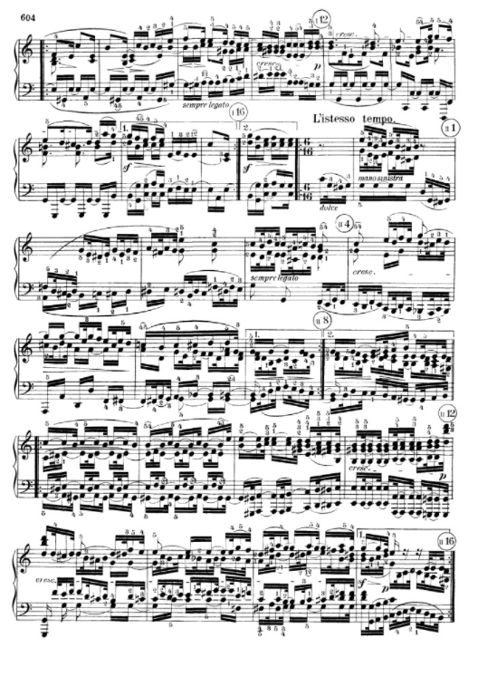 Beethoven, a page from o. Sonata 111, op.32