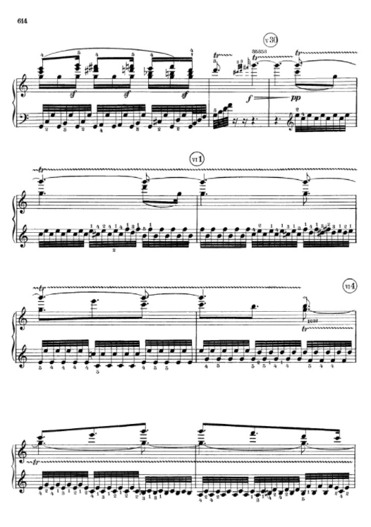 Beethoven, another page from o. Sonata 111, op.32