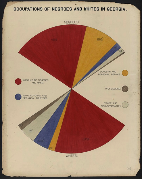 Chart prepared for WEB Du Bois to Paris 1900