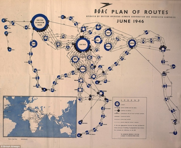 Plan of Routes BEA and BOAC