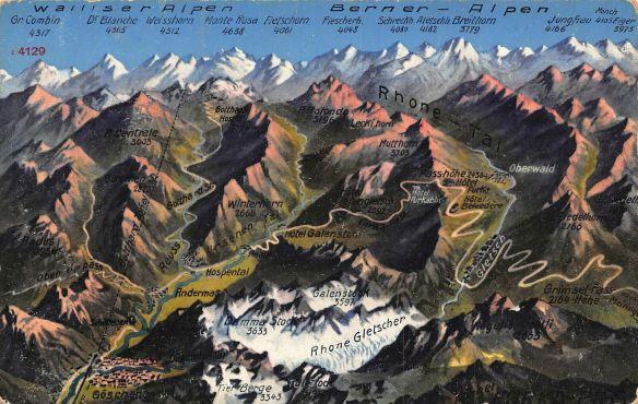 Walliser-Alpen-Serner-Alpen-Rhone-Gletscher-Mountains